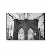 북유럽액자 거실인테리어 흑백 풍경사진 브루클린다리 뉴욕