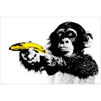 159895 (GN0600) 원숭이 바나나 팝아트 포스터