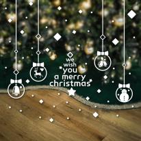 크리스마스 눈꽃 스티커 장식 / 네모눈꽃 오너먼트
