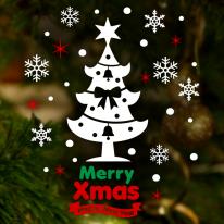 크리스마스 눈꽃 스티커 장식 / 메리 크리스마스 트리 Ver.2