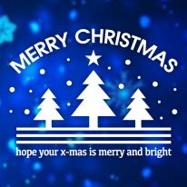 크리스마스 눈꽃 스티커 장식 / 심플로고 성탄절 트리