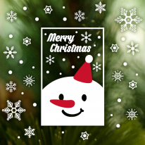 크리스마스 눈꽃 스티커 장식 / 네모네모 크리스마스 눈꽃세트 01