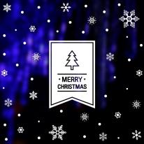 크리스마스 눈꽃 스티커 장식 / 심플 플래그 트리 눈꽃세트