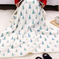 겨울소나무 양털블랭킷 무릎담요