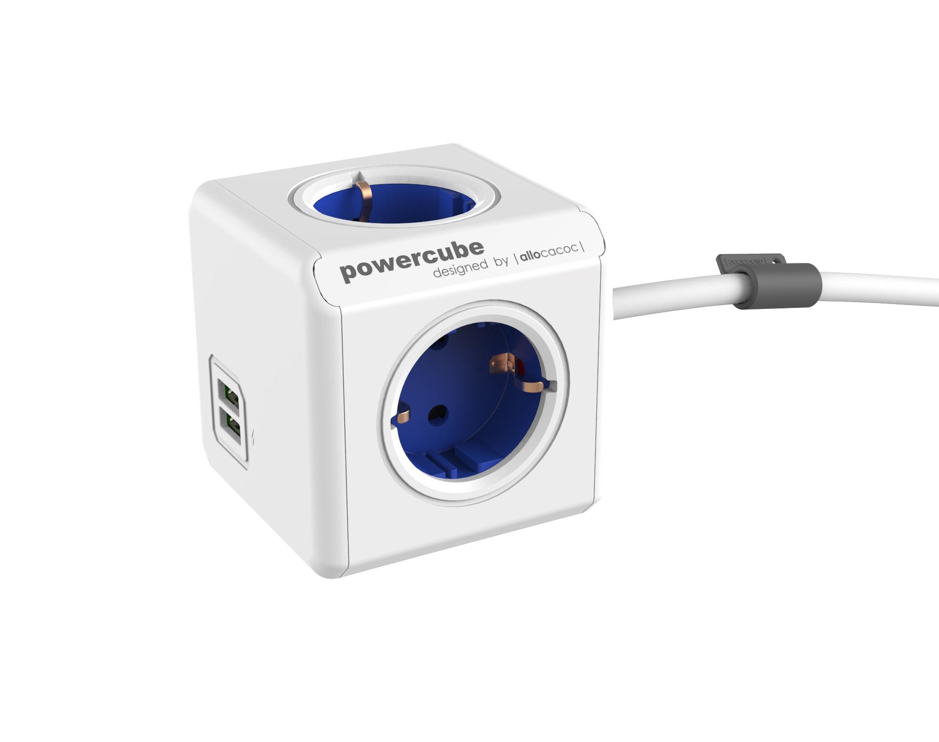 파워큐브 익스텐디드 USB 블루 1.5M