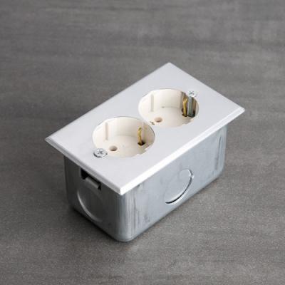 [한정특가] 박스형 빈티지 알루미늄 콘센트 (1구/2구)