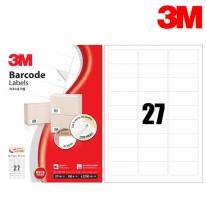 3M 21327-100 일반형 바코드 라벨(27칸,100매)