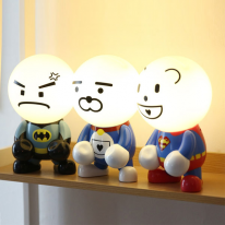 LED 캐릭터 무드등 3종 (표정스티커 4종 포함)