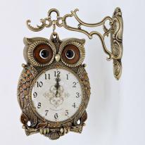 (kspz163)체리부엉이 양면시계 골드