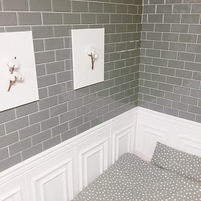 퍼니월,실리콘만으로 시공하는 입체타일 실내/욕실 겸용-요거트(그레이색상)