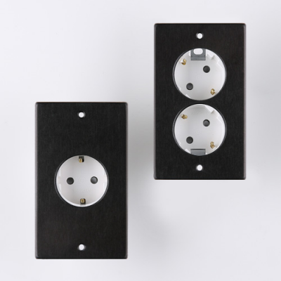 VONO 빈티지 알루미늄 콘센트 2종 (블랙)