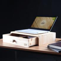 [스타일박스] 500. 서랍노트북받침대 - 삼나무 원목 정리 사무용품