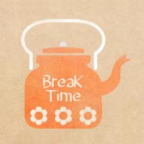 스텐실 도안_Break Time