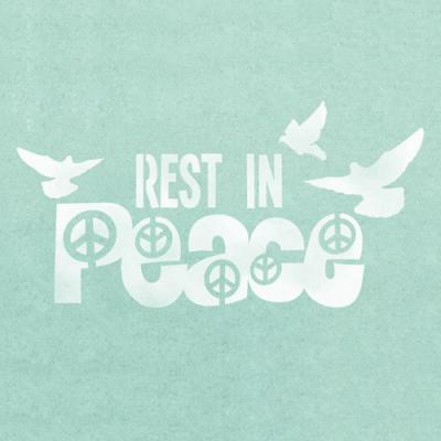 스텐실 도안_Rest in Peace