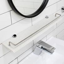 특수코팅 인조대리석 욕실일자선반_코너선반과 색상이 다름(할인판매)