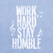 스텐실 도안_Work Hard Stay Humble