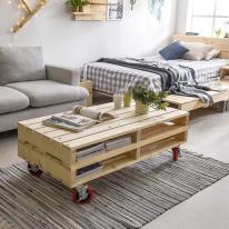 파렛트 1200×600 침대 소파 테이블 다용도 원목 프레임