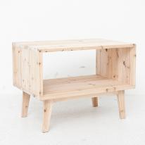 [스타일박스] 020. 사이드쉘프 - 삼나무 원목 미니테이블 사이드테이블 협탁