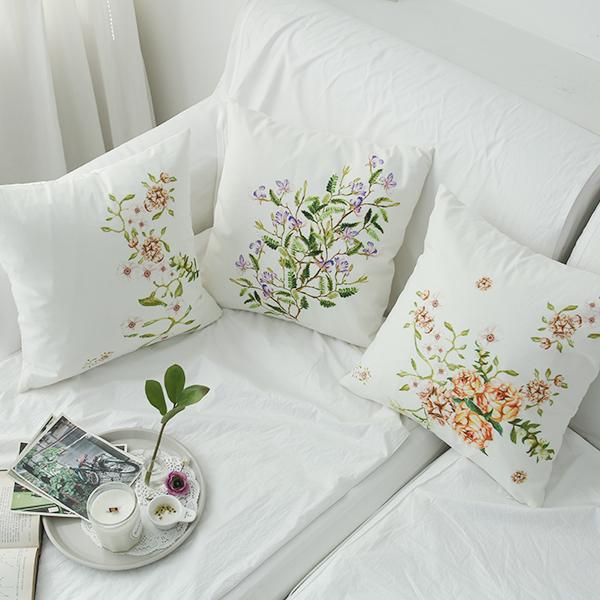 들꽃이야기 카타리나 로즈 쿠션3종 세트(솜포함)