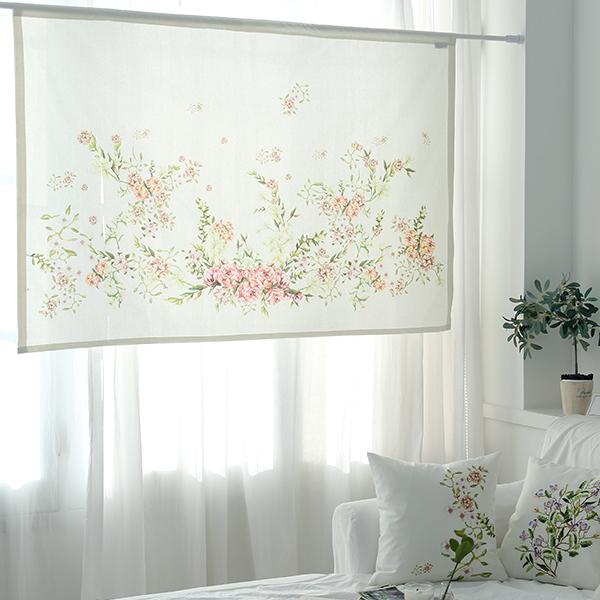 들꽃이야기 카타리나 로즈 가리개커튼 148x100