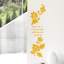 플라워데코 S658-나뭇잎 꽃  포인트시트지 스티커장식