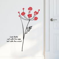 큰꽃나무 S660-플라워 꽃줄기 벽 장식 그래픽 스티커