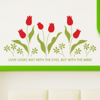 튤립마당 S662-꽃 플라워 포인트시트지 그래픽스티커