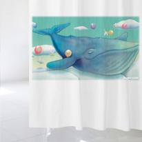 [샤워커튼]꿈꾸는 고래