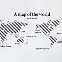 [그래픽스티커]심플 사선 세계지도