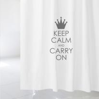 [샤워커튼]KEEP CARRY -  화이트