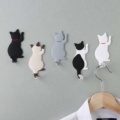 고양이 자석 후크 5종 (택1) / MAGNET HOOK Cat tail
