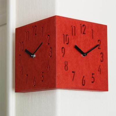 (ktk086)칼라우드 코너 더블벽시계(레드)