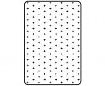 [쟈니] 3d에어매쉬매트 크로스 화이트 (90x140)