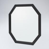 팔각 원목 거울(블랙)