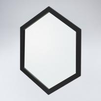 육각 원목 거울(블랙)
