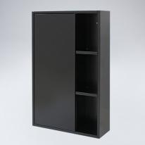 오픈 선반 원목 욕실장(블랙)