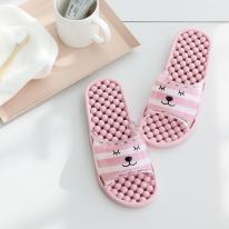 [쓰임] 스트라이프 베어 욕실화(핑크)