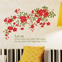 꽃나무 S670 그래픽스티커 꽃스티커