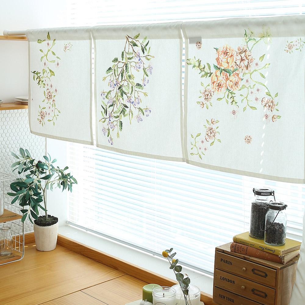 들꽃이야기 카타리나로즈 3종 가리개커튼 43x43