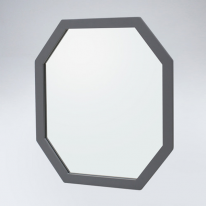 팔각 원목 거울(그레이)
