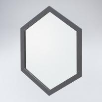 육각 원목 거울(그레이)