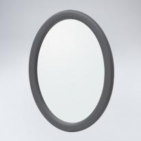 뷰티 타원 원목 거울(그레이)