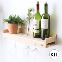 [033] 와인잔 선반걸이 만들기 DIY