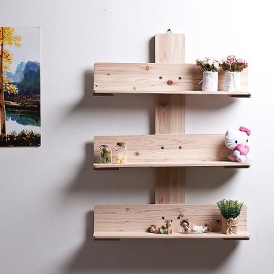 [스타일박스] 053. 원목벽선반 - 삼나무 원목 진열 벽장식