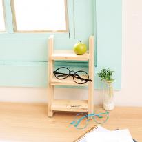 [스타일박스] 193. 탁상용 미니 사다리 선반 - 삼나무 원목 정리 사무용품