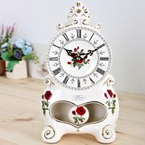 (kgse011)도자기 대형탁상시계 로즈
