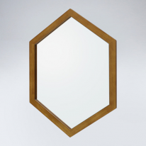 육각 원목 거울(하임엔틱)