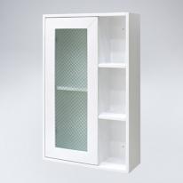 오픈 선반2 원목 욕실장(화이트)
