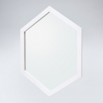 육각 원목 거울(화이트)