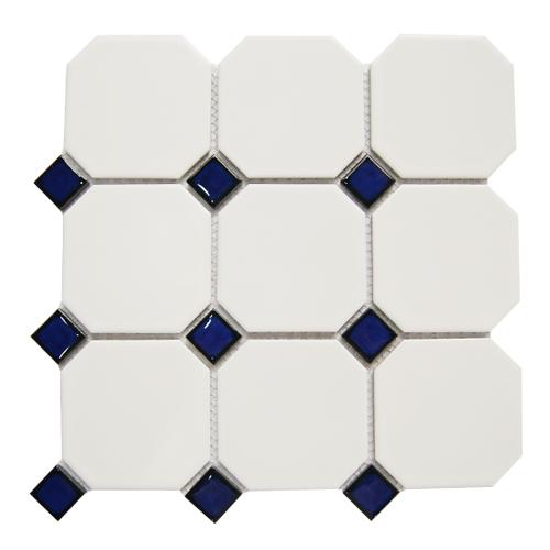 옥타곤 타일 330 X 330 1㎡=10장 / 블루